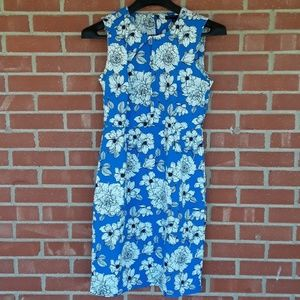 Banana Republic unique floral shift dress size 10